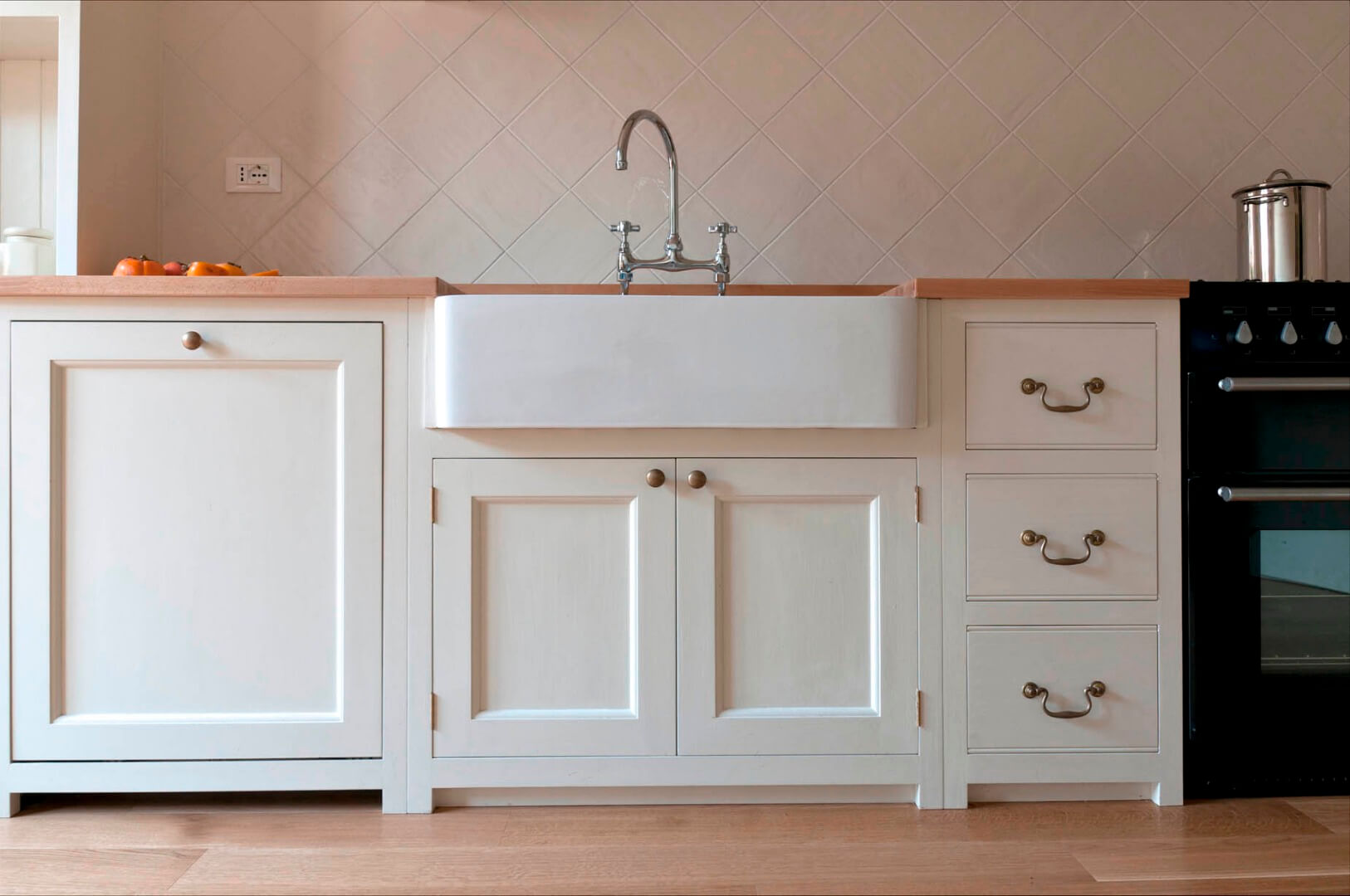 Lampadario cucina vetro bianco - Cucine all americana foto ...