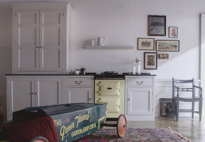 La classica cucina country in stile inglese georgiano